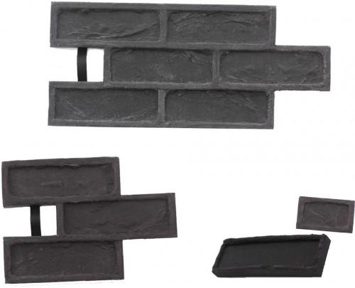 STAMP STAMP® Tehla Rustical SET2 - 4 profesionálne raznice na výrobu obkladu - TR0,5+1 a TR3 a TR6 - 4 ks