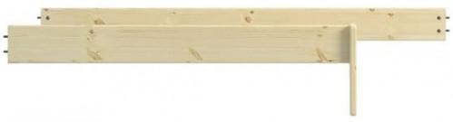 Ochranná zábrana proti pádu z detskej postele z borovicového dreva Steens For Kids
