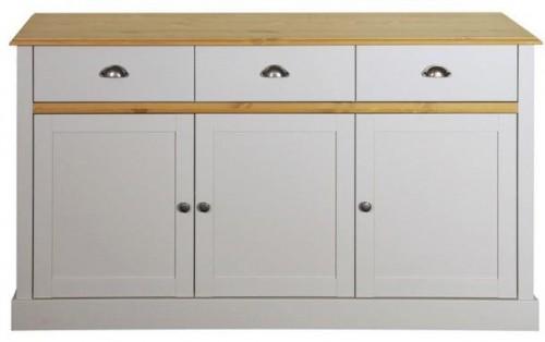 Svetlosivý príborník Steens Sandringham, 81 × 144 cm