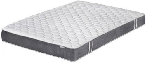 Bielo-sivý matrac s pamäťovou penou Stella Cadente Syrius, 140 × 200 cm