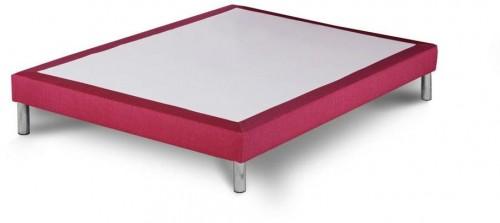 Ružová posteľ typu boxspring Stella Cadente Maison, 140 × 200 cm