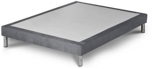 Sivá posteľ boxspring Stella Cadente Maison Syrius Forme, 140 × 200 cm