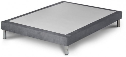 Sivá posteľ boxspring Stella Cadente Maison Syrius Forme, 160 × 200 cm