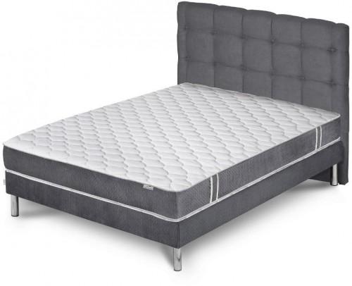 Sivá posteľ s matracom Stella Cadente Maison Syrius Saches, 140×200cm