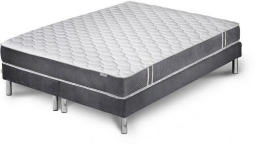Sivý matrac s 2 boxspringmi Stella Cadente Syrius, 180 × 200 cm