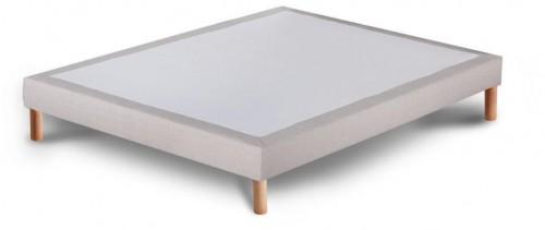 Svetlosivá posteľ typu boxspring Stella Cadente Maison, 140 × 200 cm