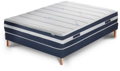 Tmavomodrá posteľ s matracom Stella Cadente Maison Venus Europe, 140 × 200 cm
