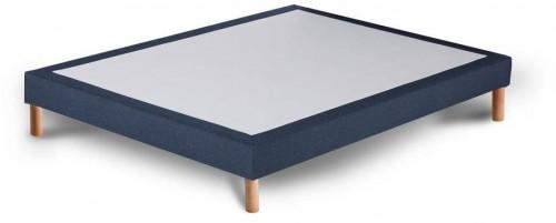 Tmavomodrá posteľ typu boxspring Stella Cadente Maison Venus, 140 × 200 cm