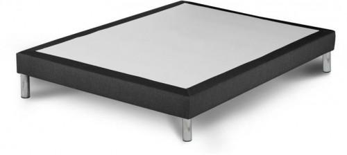 Tmavosivá posteľ typu boxspring Stella Cadente Maison, 140 × 200 cm