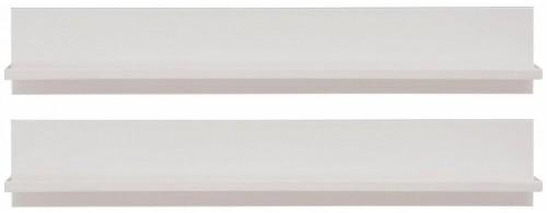 Biela nástenná polička z masívneho borovicového dreva Støraa Salento