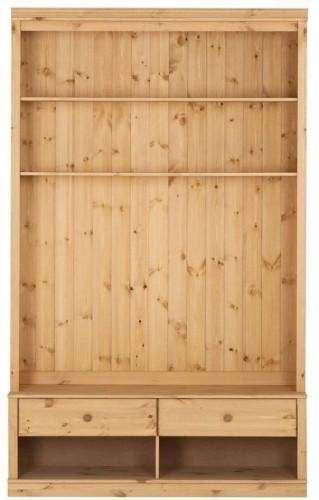 Hnedá knižnica s TV komodou z borovicového dreva Støraa Annabelle