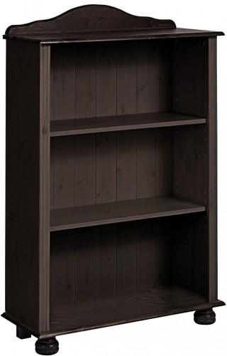 Nízka tmavohnedá knižnica z masívneho borovicového dreva Støraa Ella