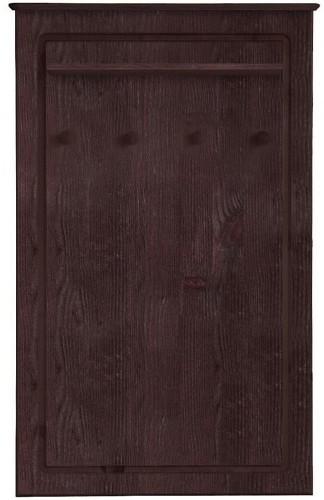 Tmavohnedý nástenný vešiak z masívneho borovicového dreva Støraa Amanda