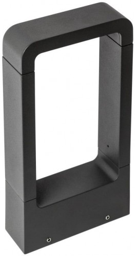 Čierne vidiecke svietidlo SULION Cobaqua, 30×16 cm