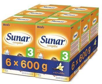 Sunar Complex 3 vanilka - 6× 600 g