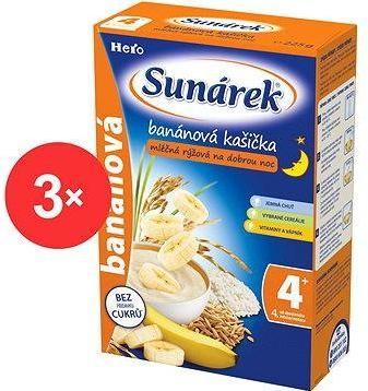 Sunárek banánová kašička na dobrou noc - 3× 225 g
