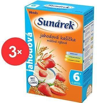 Sunárek jahodová kašička - 3× 225 g