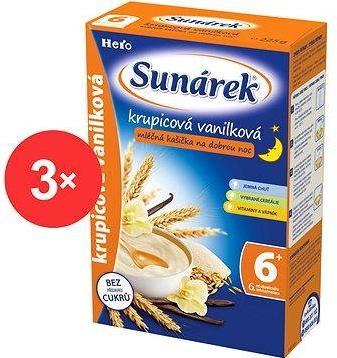 Sunárek krupicová kašička s vanilkou na dobrou noc - 3× 225 g