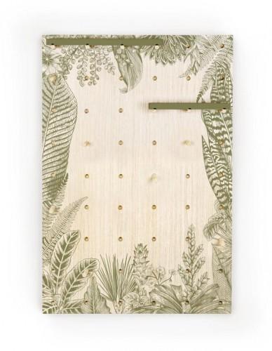 Nástenka s poličkami z borovicového dreva Surdic Pegboard Kentia Fir