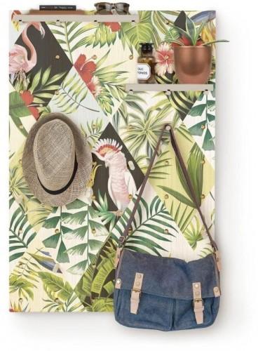 Nástenka s poličkami z borovicového dreva Surdic Pegboard Tropical