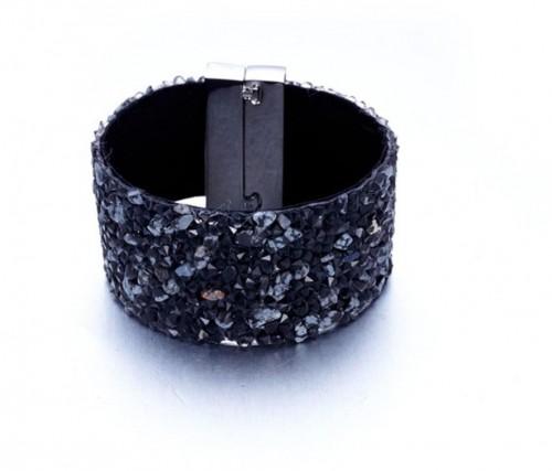 Zamatový náramok s krištáľmi Swarovski Elements Crystals Claude
