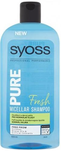 Syoss Micelárny šampón pre normálne vlasy Pure Fresh (Micellar Shampoo) 500 ml