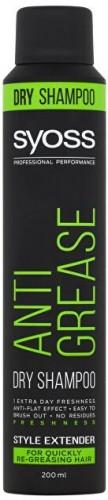 Syoss Suchý šampón pre rýchlo sa mastiace vlasy Anti Grease (Dry Shampoo) 200 ml