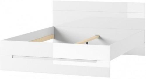 Biela posteľ Szynaka Meble Selene, 160 cm