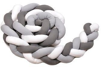 T-tomi Pletený mantinel 360 cm, white + grey + anthracite