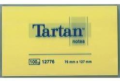 Samolepiaci blok Tartan 012776, (š x v) 127 mm x 76 mm, žltá, 100 listov