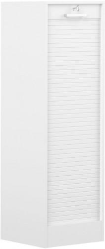 Biela komoda TemaHome William, výška138 cm
