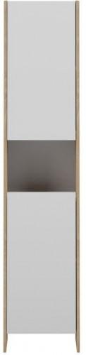 Biela kúpeľňová skrinka s hnedým korpusom TemaHome Biarritz, šírka 38,2cm