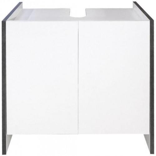 Biela kúpeľňová skrinka so sivým korpusom TemaHome Biarritz, výška 59,2cm