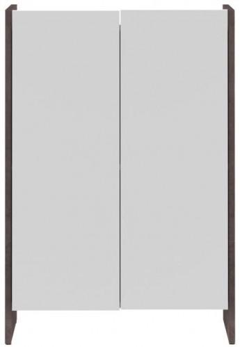 Biela kúpeľňová skrinka so sivým korpusom TemaHome Biarritz, výška 89,5cm