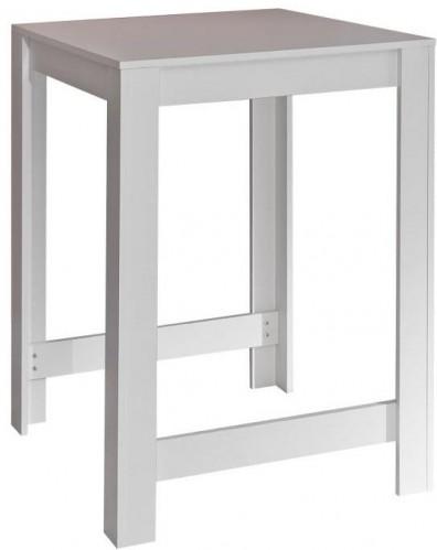 Biely barový stôl TemaHome Sulens, šírka 70 cm