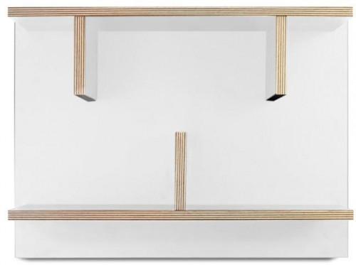Biely nástenný policový systém TemaHome Bern, 230 × 60cm