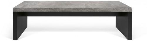 Čierno-sivá lavica v betónovom dekore TemaHome Detroit, 140 x 43 cm