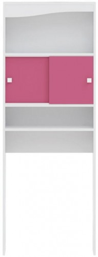 Ružová kúpeľňová skrinka nad práčku TemaHome Wave, šírka 60cm