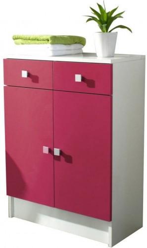 Ružová kúpeľňová skrinka TemaHome Combi, šírka 60cm