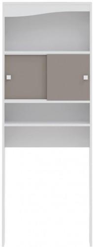 Sivohnedá kúpeľňová skrinka nad práčku TemaHome Wave, šírka 60cm
