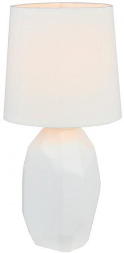 Tempo Kondela, Keramická stolná lampa, biela, QENNY TYP 1 AT15556