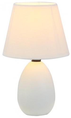 Tempo Kondela, Keramická stolná lampa, biela, QENNY TYP 12 AT09350