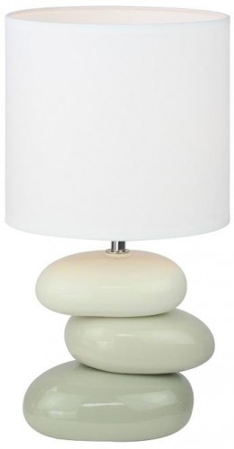 Tempo Kondela, Keramická stolná lampa, QENNY TYP 4, biela/sivá