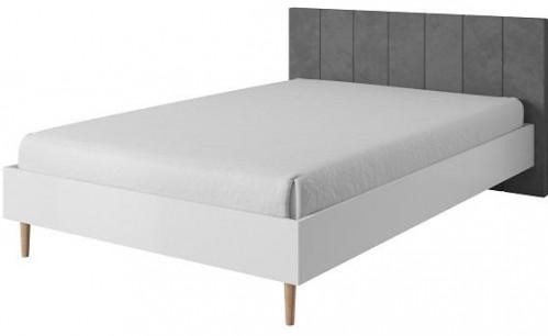TEMPO KONDELA Laveli LLO160 manželská posteľ 160x200 cm biela / sivá