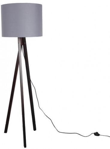 Tempo Kondela, LILA Typ 10 LS6026 sivá/drevo čierne, Stojacia lampa