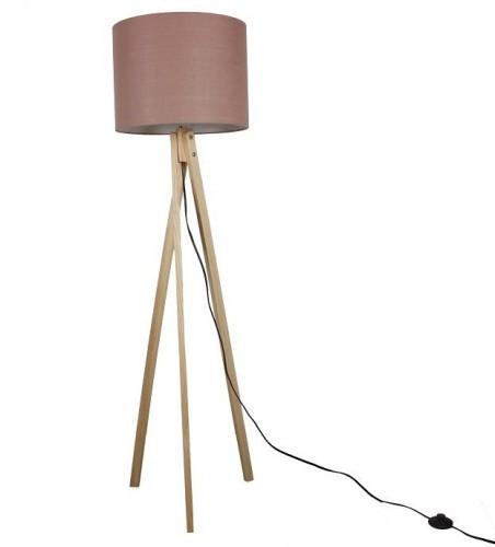 TEMPO KONDELA Lila Typ 8 stojacia lampa hnedá / prírodná