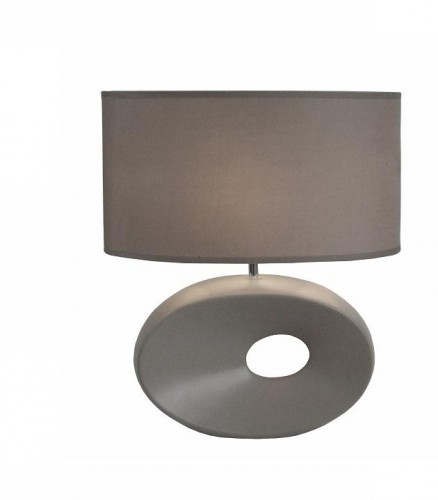 TEMPO KONDELA Qenny Typ 11 stolná lampa sivá