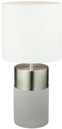 TEMPO KONDELA Qenny Typ 19 stolná lampa biela / svetlosivá