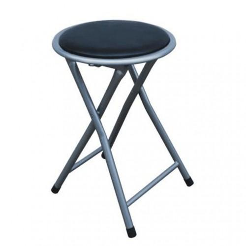 Tempo Kondela Skladací taburet/stolička, čierna, IRMA
