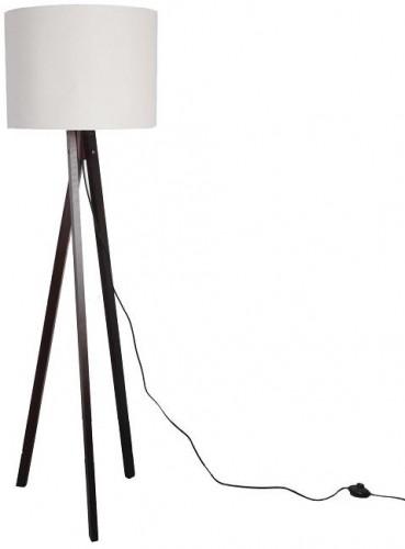 Tempo Kondela, Stojacia lampa, biela/drevo čierne, LILA Typ 9 LS6062